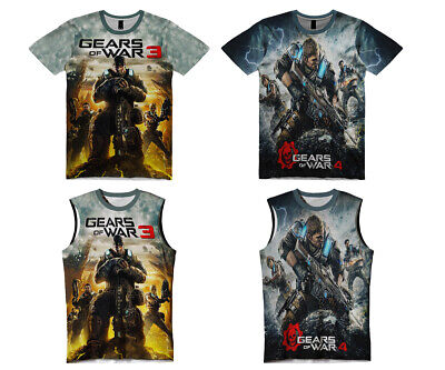 New Mens Gears Of War Video Game Sub Tank Top Tee T-Shirt Reg Fit&Size