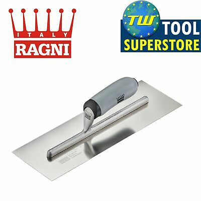 """Ragni 14"""" Stainless Steel Finishing Trowel Two component Easi-Grip - R418S-14"""