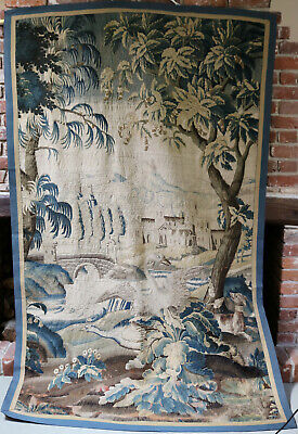 17th Century French Aubusson  Tapestry Wall Hanging DOG BIRDS