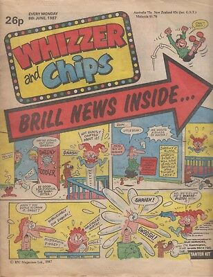 Whizzer and Chips Comic 6th June 1987 - Sweeny Toddler / Toy Boy / Sid's Snake /