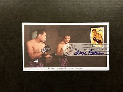 Joe Louis Frist Day Cover Signed By Floyd Patterson 1935-2006 Gold Medal 1952