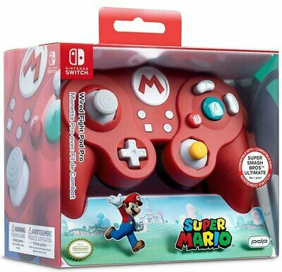 PDP Super Smash Bros Wired Fight Pad Pro Mario -  Nintendo Switch - Brand New