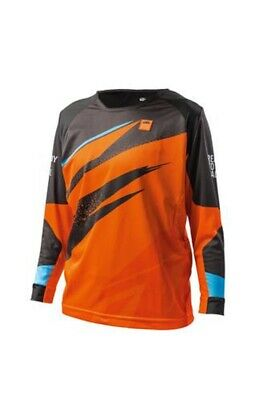 KTM Pounce Shirt Kids Orange Off road Motocross Motorcycle Jersey 2019 New!!