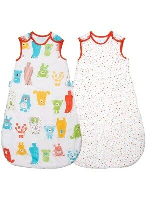 Grobag Day &Night Sleeping Bag Spotty Bear TWIN PACK 18-36months 1.0 +2.5 tog