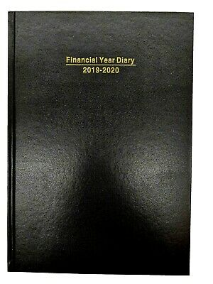 2019-2020 Financial Year Diary A4 Week to view Black hardcover
