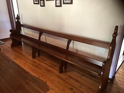 Church Pew  - Antique Vintage Wooden Bench Seat Rustic