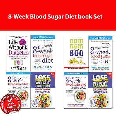 8-week Blood Sugar Diet Recipe 4 Books collection set Nom Nom Fast 800 Cookbook