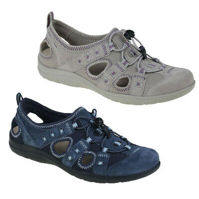Earth Spirit Ladies Winona Lace Toggle Cut Out Comfort Trainer Walking Shoes