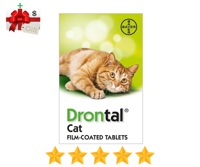 Bayer Drontal for Cats & Kittens Tapeworm Deworming - 24 Tablets Made in Germany