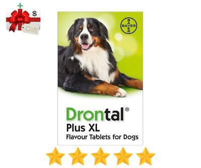 Bayer Drontal Plus for XL Dogs Deworming - 2 Flavored Tablets - Made in Germany