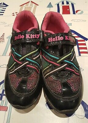 HELLO KITTY Girls Black Pattern Trainers-Pumps Size 12 Infant
