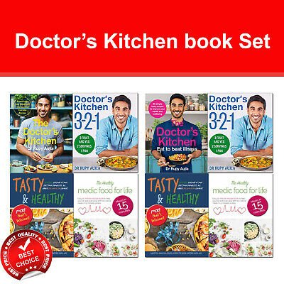 Doctor's Kitchen Eat to Beat Illness Books set BOSH!, How Not To Die, Food Medic