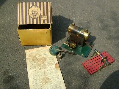 Vintage Bowman M158 Model Steam Stationary Engine - Boxed With Accessories