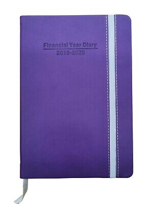 2019-2020 Financial Year Diary A5 Day to view 2019/20 with elastic