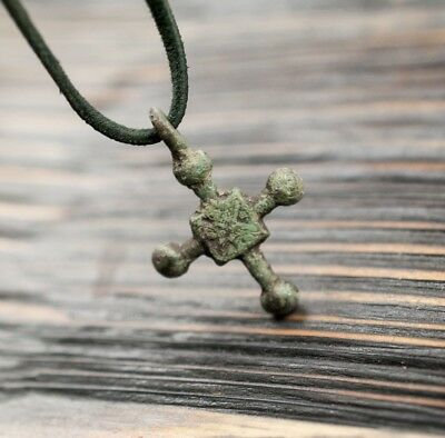 Medieval Cross c.9th-11th Century AD Ancient Pendant, Religious Antique Jewelry