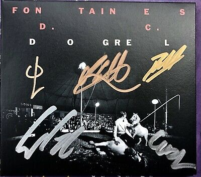 Fontaines D.c. - Dogrel Hand Signed Cd Album Autographed