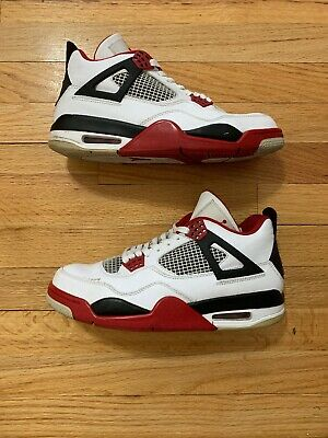 1ad03a8f8c737 AIR JORDAN 4 Retro Fire Red SKU 308497 110 Size 9
