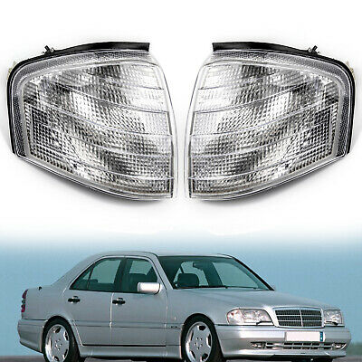 Pair Corner Light Turn Signal Lamp Fits Mercedes Benz C Class W202 1994-2000 BU