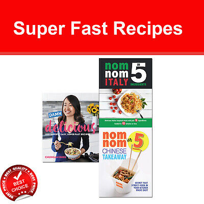Damn Delicious Super Fast Recipes 3 Books set In 5 Ingredients Nom Nom Chinese