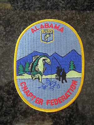 - 4  inch 25 YEAR ANNIVERSARY  Patch B.A.S.S old logo Vintage Mint BASSMASTER