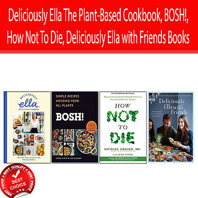 Deliciously Ella The Plant-Based Cookbook, BOSH! 4 Books Collection Pack set NEW