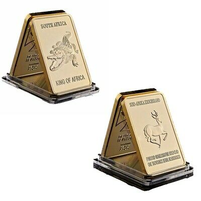 Gold Bar Crocodile And Antelope King Of Africa 1oz Gold Plated Commemorative Bar