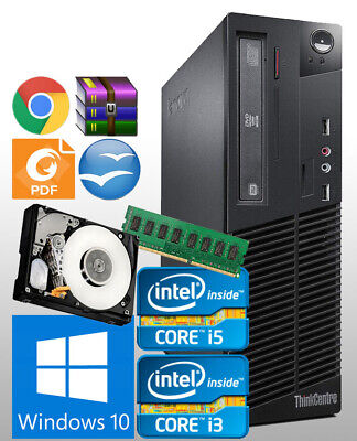 FAST LENOVO SFF COMPUTER CORE i3/i5 4GB/8GB RAM 500GB/1TB HDD WINDOWS 10 PC