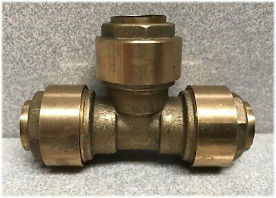 15mm Brass Push Fit Equal Tee for 15mm Copper Pipe Tube