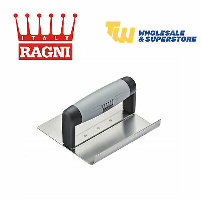 """Ragni Inside Curved Step Trowel 6""""x 6"""" With Comfort Soft Grip Handle - R65161S"""