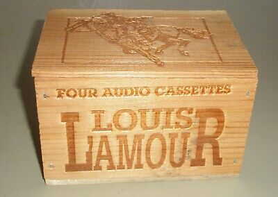 Louis L'amour Audio Books On 4 Cassettes In Wood Box 8 Tales