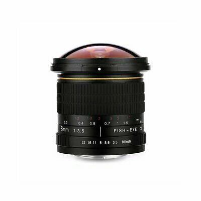 8mm f/3.5 High Definition  Fisheye Lens with Removeable Hood for Canon DSLR NC