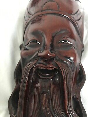 Heavy Chinese Carved Head/Mask