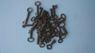 Thirty small old cabinet / drawer/ box keys