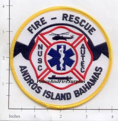 Bahamas - Andros Island Fire Rescue Fire Dept Patch