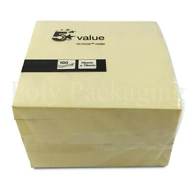 """Yellow STICKY NOTE PADS (3x3"""") Any Qty REMINDER NOTES It Memo Pad Desk Post"""