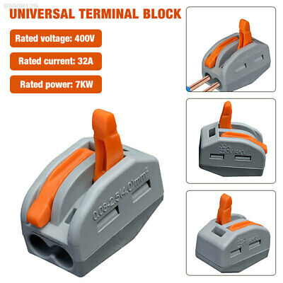 5813 Portable Electric Cable Reusable Spring Lever Terminal Block Wire