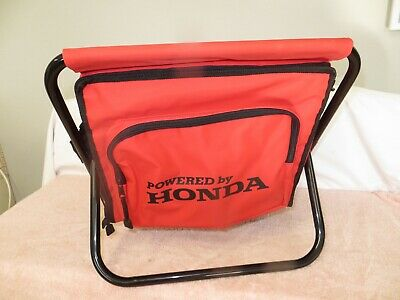 HONDA Racing Folding Stool w/Insulated Cooler w/Carrying Strap-Camp Picnic Fishb