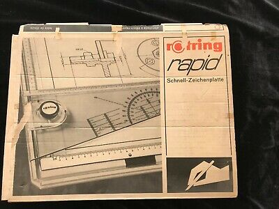 Rotring Rapid Drawing Board With Original Box