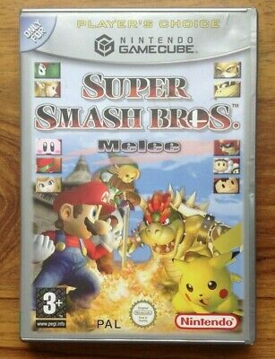 Super Smash Bros Melee Nintendo Gamecube Case And Manual Only  *NO GAME*