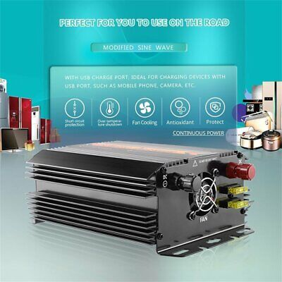 T8094 Solar Inverter 1000W/1500W Car Modified Sine Wave Auto Power Inverter NN