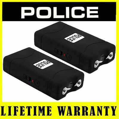 (2) POLICE BLACK 800 Mini Stun Gun Self Defense - Wholesale Lot