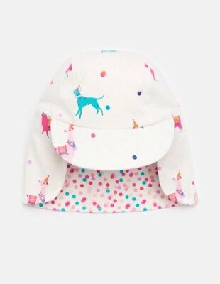 BNWT Joules Baby Girls Reversible Sunny Hat 0-6 Months