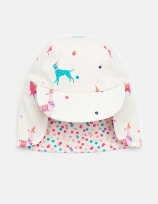 BNWT Joules Baby Girls Reversible Sunny Hat 6-12 Months