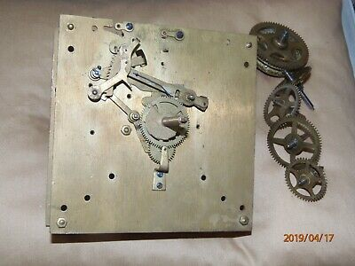 Antique, vintage wall or longcase clock movement for parts or rebuild.
