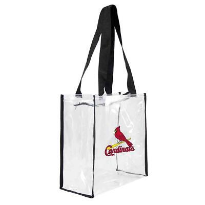St Louis Cardinals Clear Square Stadium Tote (NEW) MLB Bag Purse Zipper Game
