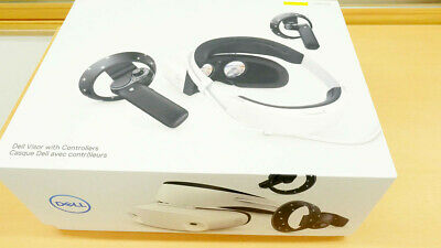 Dell VRP100 Virtual Reality Headset Visor and Controllers for Windows PC - White