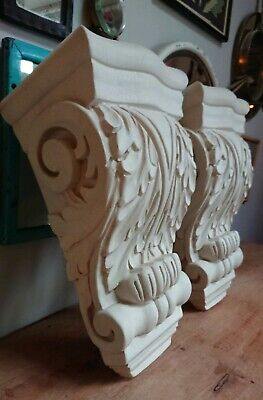 Pair of Corbels  Resin Not Polystyrene GOTHIC - 200MM X 355MM X 149MM LARGE BIG