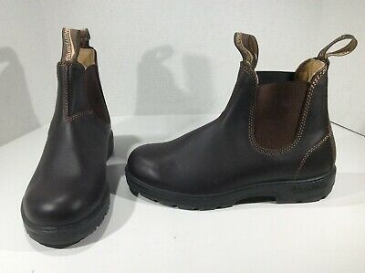 BLUNDSTONE Womens 550 Brown Leather Pull On Ankle Boots Shoes Sz 5 = 8 F8-409