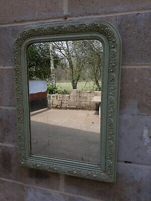 Old French Mirror - light green