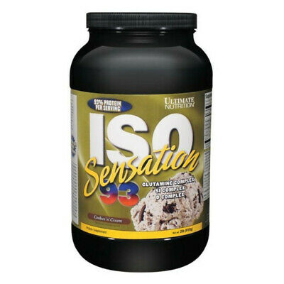 Ultimate Nutrition proteine isolate e idrolizzate ISO SENSATION 93 2LBS COOKIES'